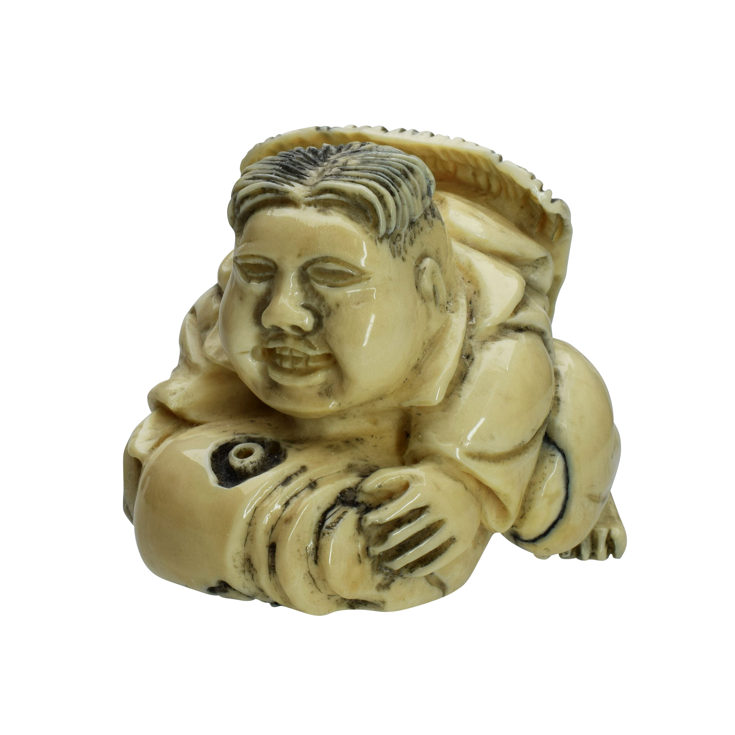 Netsuke aus Mammutstoßzahn