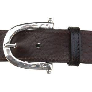 "Bonaroca Gürtel ""Steigbügel"" - Pferd Rindleder 925 Sterling Silber, GL7"