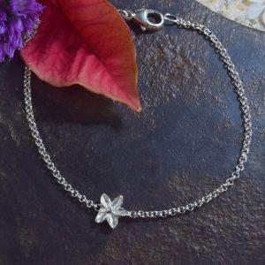 Bonaroca Armband Ankerkette mit Blüte