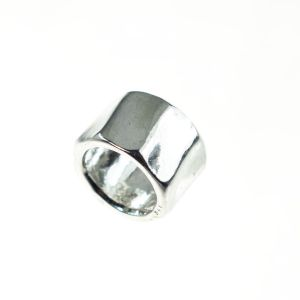 Bonaroca Bead- 8-eckiger Ring, 6,5mm Innendurchmesser, Kollektion Asmara- 925 Sterling Silber, AS1007