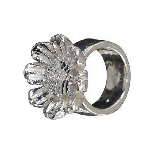 Bonaroca Blumenbead, 6,5mm Innendurchmesser, Kollektion Asmara- 925 Sterling Silber AS1015