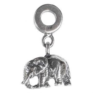 Bonaroca Charm Anhänger Elefant vollplastisch mit Öse, Sterling Silber, 4030