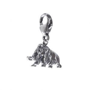 Bonaroca Charm Mammut vollplastisch mit Karabiner, Sterling Silber, 4032K