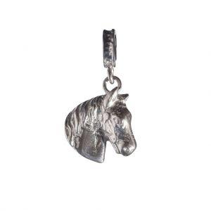 Bonaroca Charm Pferdekopf Basrelief / Öse, Sterling Silber, 4393