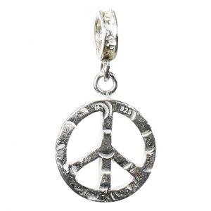 Bonaroca Charm Schmuck Anhänger Peace mit Öse, Sterling Silber 4551