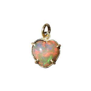 BONA ROCA Herz Anhänger echt Edel Opal rot-orange grundig Gold 585 Fassung OP14-200