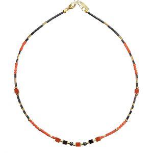 BONA ROCA Armband aus echter Mittelmeerkoralle, Hämatit OK154G