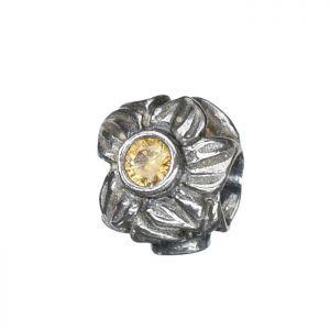 Bona Roca Bead Blüten/amber Zirkonia