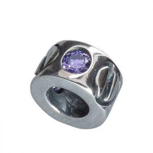 Bona Roca Bead Element 3 Swarovski Zirkonia lila