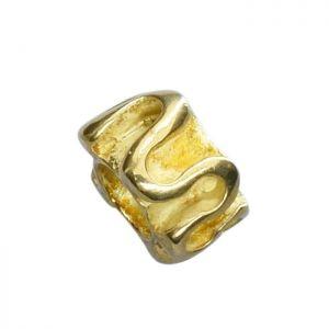 Bead umlaufender Faden goldplattiert