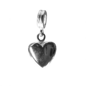Bonaroca Herz  Charm Anhänger gross mit Öse, Sterling Silber, 4020