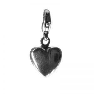 Bonaroca Herz  Charm Anhänger gross mit Öse, Sterling Silber, 4020K
