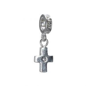Charm Kreuz mit Swarovski Zirkonia 4237