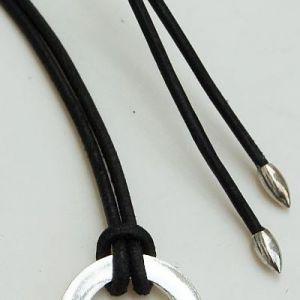 Lederhalskette schwarz