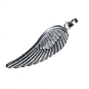 Bonaroca Charm Schmuck Anhänger Flügel groß mit Öse ohne Kette, Sterling Silber, 4403