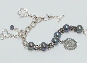 781 Sterling Silber Sammelarmband mit Beads und Charms